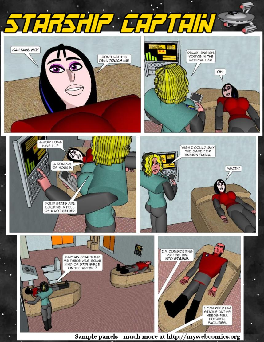 Starship Captain - webcomic, cartoon comics, free online comic, comic book artist, comic book, online comics